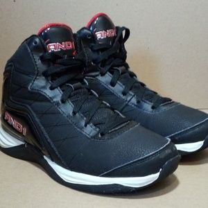 Black/Red And1 High-Top Basketball Shoes